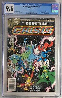 Crisis on Infinite Earths #1 CGC 9.6 NM+ White pages 1st Blue Beetle DC Comics