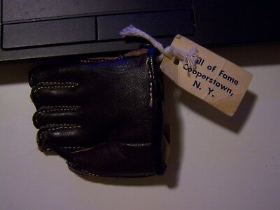 Miniature fielding glove from the Hall of Fame