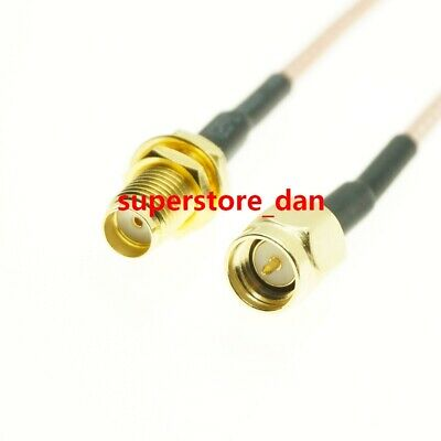 10/15/50cm RG316 Cable SMA Male Plug To SMA Female bulkhead lot Jumper Pigtail