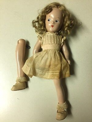 "Vintage 9-1/2"" Madame Alexander Composition Wendy-Ann Doll (New York) AS-IS"