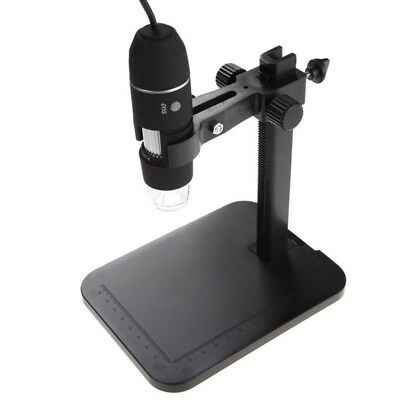 2MP USB 1000X 8 LED Digital Microscope Endoscope Magnifier # Camera+Lift Stand