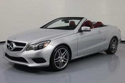 2014 Mercedes-Benz E-Class Base Convertible 2-Door 2014 MERCEDES-BENZ E350 CABRIOLET P1 RED LEATHER NAV 8K #269136 Texas Direct