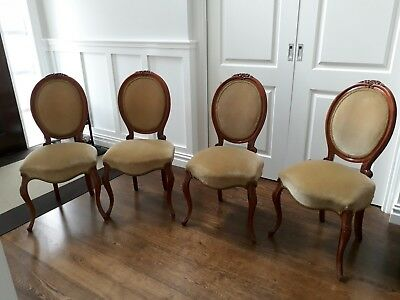 4 x Balloon backed French/Antique Style Chairs