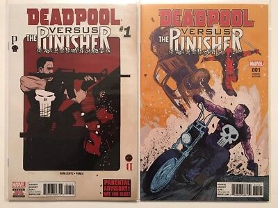 DEADPOOL VS PUNISHER #1 Reg & Variant, Marvel (2017)