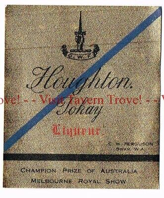 Unused 1940s AUSTRALIA Swan G W Ferguson HOUGHTON TOKAY Wine Label