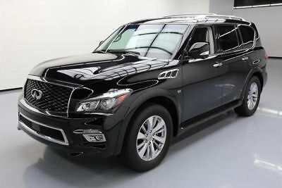 2016 Infiniti QX80 Base Sport Utility 4-Door 2016 INFINITI QX80 7-PASS SUNROOF NAV 360-CAM 20'S 16K #614376 Texas Direct Auto