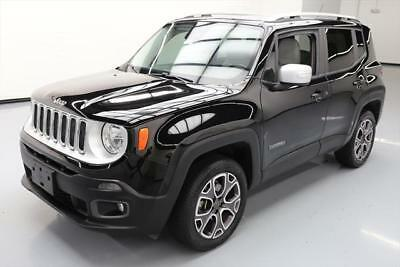2015 Jeep Renegade Limited Sport Utility 4-Door 2015 JEEP RENEGADE LIMITED 4X4 HTD LEATHER REAR CAM 48K #B97610 Texas Direct