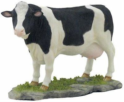 "10"" Dairy Cow Figurine Statue Animal Farm Home Decor Figure Sculpture"