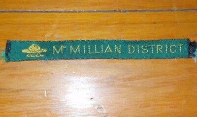 SCOUT PATCHES - McMILLIAN DISTRICT