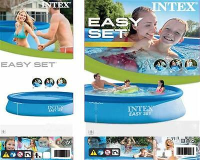 INTEX Easy Set Pool ® Ø 396 x 84 cm Quick-Up Pool Becken Schwimmbecken
