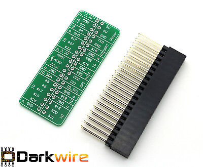 Detailed GPIO Reference PCB for RPi - A+, B+, 2 & 3 + 40 Pin (2x20) Header