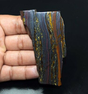 325.55 Cts. 100% Natural Multi Iron Tiger Slice For Making Cabochons