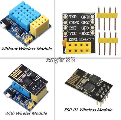 ESP8266 DHT11 Temperature Humidity WiFi Wireless Module Pin Adapter ESP-01 01S K