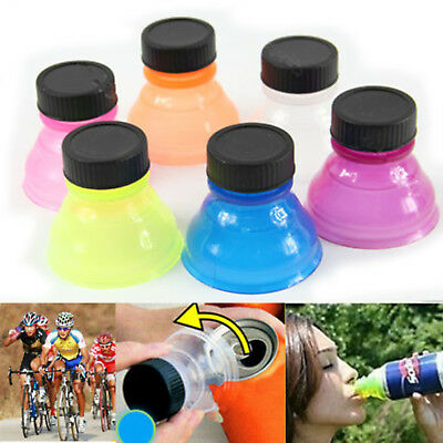 6Pcs Reusable Water Bottle Snap On Tops Caps For Pop Soda Drink Can Lids 01BE