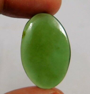 15.65 Cts. 100% Natural Massive Green Jade? Oval 28X18 Cab Gemstone