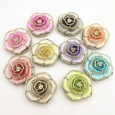 Rose Flower Hanger Foldable Handbag Purse Bag Hook Table Desk Hang Holder #