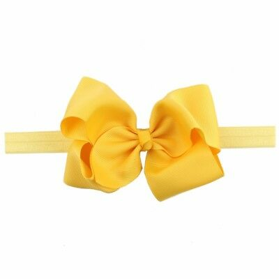 Yellow Headband Baby Hot Hair Band Bowknot Headwear Accessories