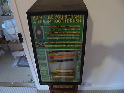Steam Punk - Very rare and Quirky 1920's toothbrush advertiser/dispenser