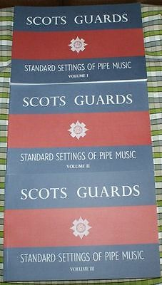 Scots Guards Einstellungen Volumes 1 2 & 3 BUCH Tunes Für HIGHLAND DUDELSACK