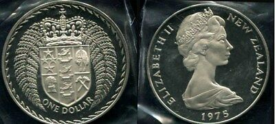 New Zealand: 1975  $1 QEII Proof Crown sized coin (38mm), Don't miss it!
