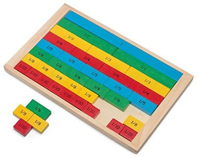 Wooden Fractions Board Educational Maths Learning Resources Montessori