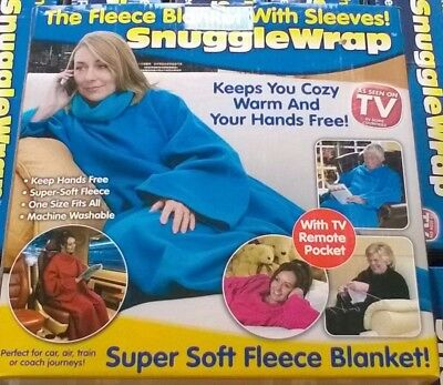 The original Snuggle Wrap fleece blanket soft cosy snuggie sleeves As seen on TV