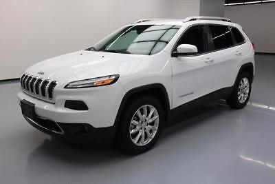 2017 Jeep Cherokee  2017 JEEP CHEROKEE LIMITED 4X4 HTD LEATHER REAR CAM 39K #518854 Texas Direct