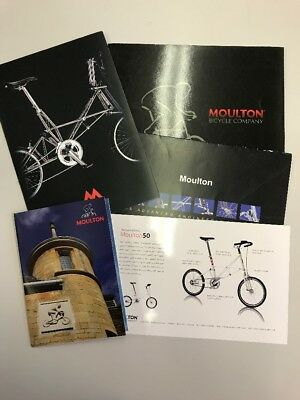 Moulton Bicycle Postcards And Brochures Mixed Lot