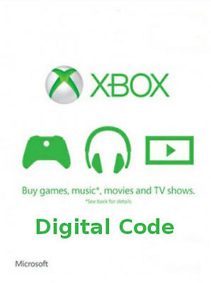 €1 Microsoft XBOX Live/One/360 1EUR gift / credit / top-up. Emailed