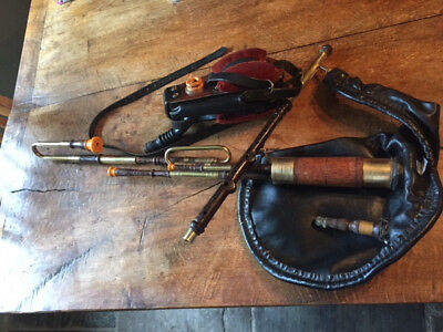 A half set of Uilleann pipes made by the Welsh pipemaker, Alan Ginsberg in D.
