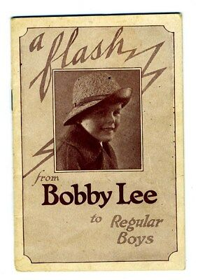 Bobby Lee Hats for Boys Booklet 1920's Club for Boys