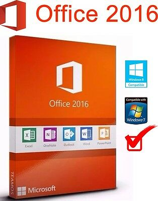 Office 2016 Pro Plus 32/64 Bits Licencia Digital Only Spanish