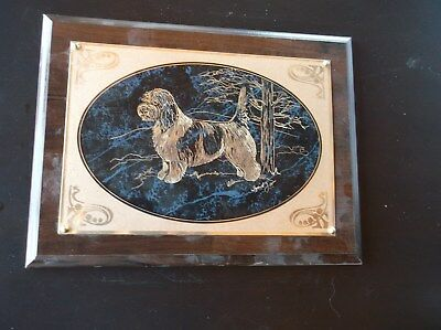 PBGV-- Beautifully hand engraved wall plaque by Ingrid Jonsson