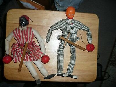 Early Black Americana marionette's 2for1 Star of David Tacks celluloid