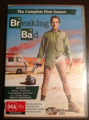 BREAKING BAD The Complete First Season Like New 3 DVDs R4