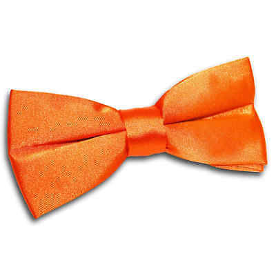 DQT Satin Plain Solid Burnt Orange Formal Classic Mens Pre-Tied Bow Tie