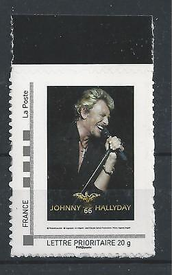 Timbre neuf collector de Johnny Hallyday