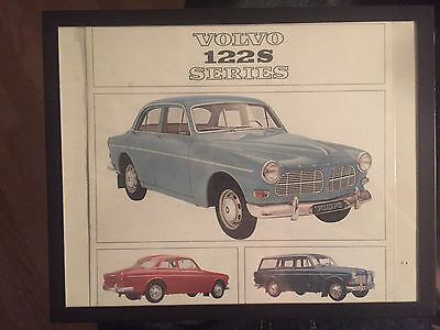Volvo 122S Series 1966 Sales Brochure Framed Vintage Advertising Automotive Euro