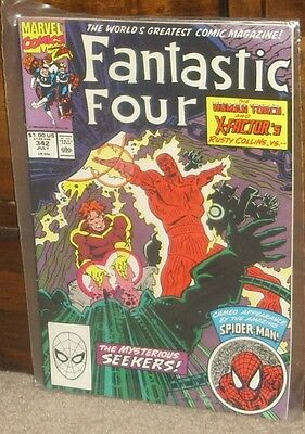 FANTASTIC FOUR Issue 342 July 1990 Marvel Comics Bronze Age cents copy