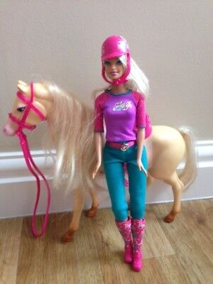 barbie  and hoarse doll set girl's toy Christmas present 24hr del