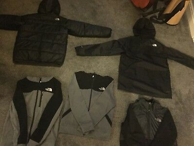 The North Face Large Boys Bundle - Puffer Jacket, Waterproof Jacket, 3 Zip Hoods