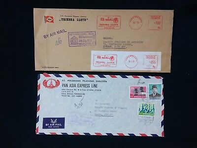 Indonesia Air Mail Shipping Cover & Front 1979 To Lloyds London Trikora/pan Asia