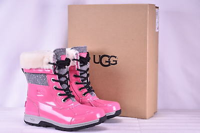 Youth Girl's Ugg  1019209K/PAZ Butte II Patent Sparkle Boots Pink Azaela