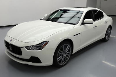 2014 Maserati Ghibli Base Sedan 4-Door 2014 MASERATI GHIBLI SUNROOF REAR CAM LEATHER 20'S 26K #105222 Texas Direct Auto