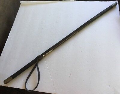 Rare WW1 WWll WW2 Swagger Stick Crop Billy Club Baton Army Marine Soldiers Name