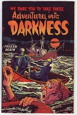 Adventures into Darkness #14: Fawcette, Roussos, Mastroseri, Roy, Andru Art FN+