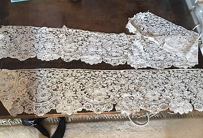 Victorian Antique Handmade Lace, Intricate Detail