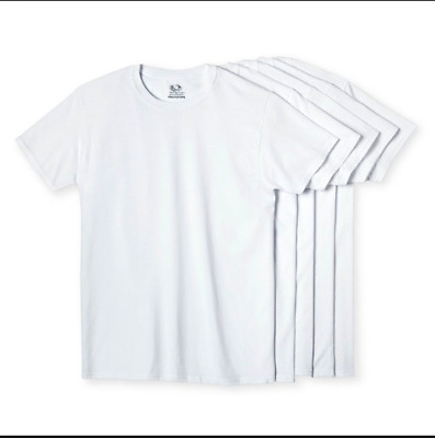 5 Pack Plain T-shirt for Kids Different Size Boy Girl White on Sale Tee Bulk NEW