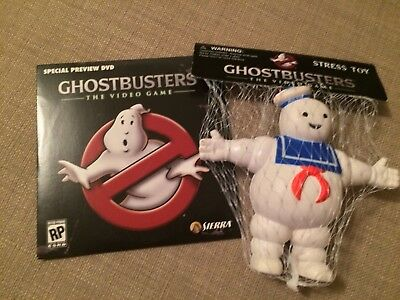 GHOSTBUSTERS THE VIDEO GAME Promo Items STAY PUFT STRESS TOY DVD TRAILER *NEW