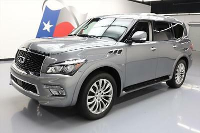 2015 Infiniti QX80 Base Sport Utility 4-Door 2015 INFINITI QX80 THEATER SUNROOF NAV DVD 22'S 36K MI #572737 Texas Direct Auto